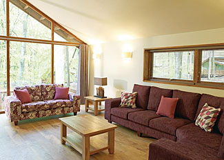Cropton Lodges photo of living area in typical Silver Birch 2 Lodge ( Ref LP4060 )