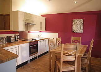 Cropton Lodges photo of Typical Silver Birch 3 Lodge kitchen/dining area ( Ref LP3970 )