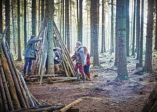Have fun den building at Keldy Forest Lodges - Self Catering Accommodation near Pickering Yorkshire