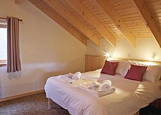 Bedroom at Golden Oak 2 Lodge ( Ref LP4136 ) at Keldy Forest Lodges near Cropton