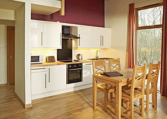 Silver Birch 2 Lodge kitchen/dining area ( Ref LP3122 ) at Keldy Holiday Lodges near Pickering