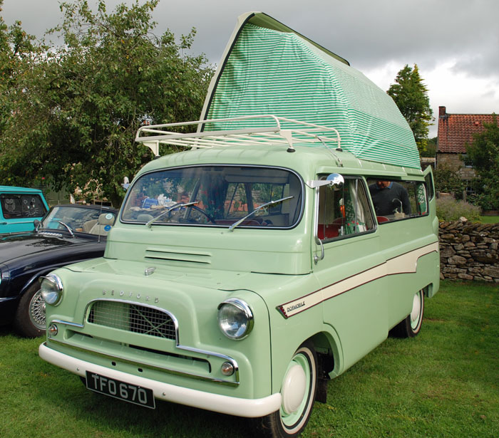 Bedford Camper Van on display at Cropton Vintage Rally 2018