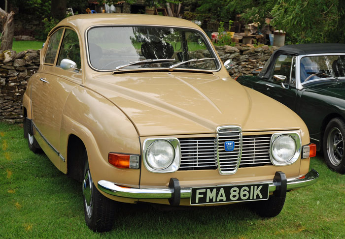 Saab car at Cropton Vintage Car Rally 2018