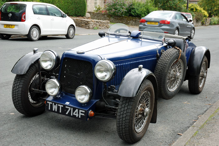 MG car on display in Cropton main street - Cropton Vintage Car Rally 2018